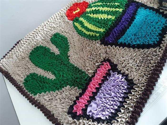 hermosas alfombras de retazos