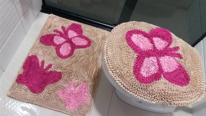 tapete con solapa de mariposa