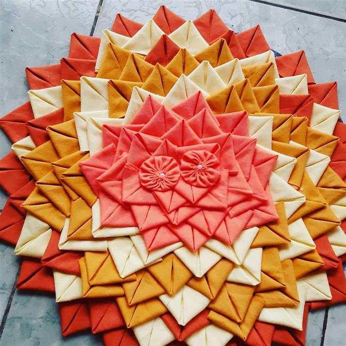 alfombra con solapa