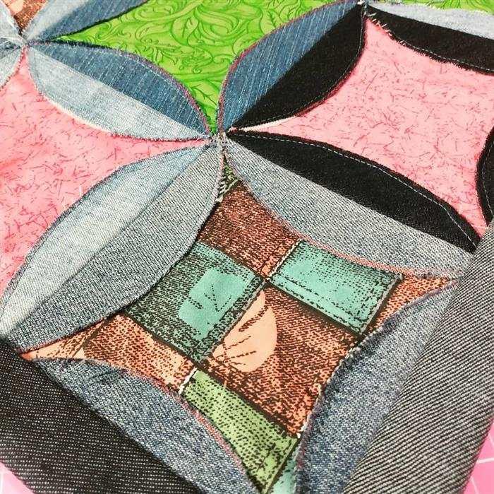 alfombra al por menor con jeans