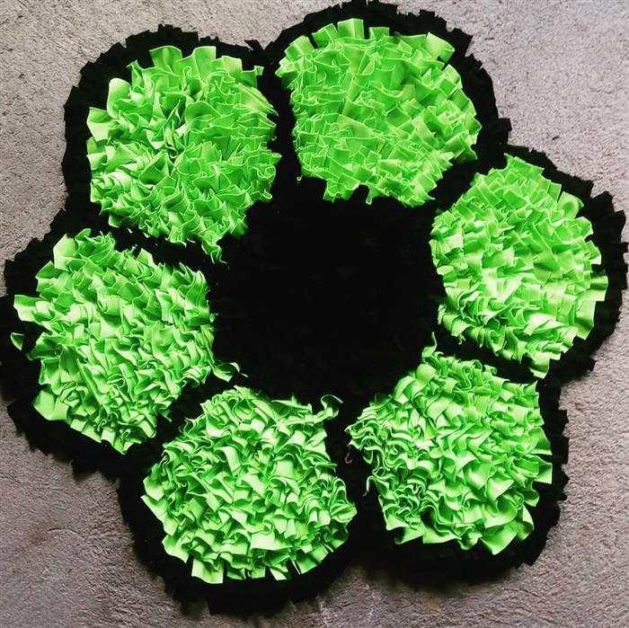alfombra al por menor en forma de flor