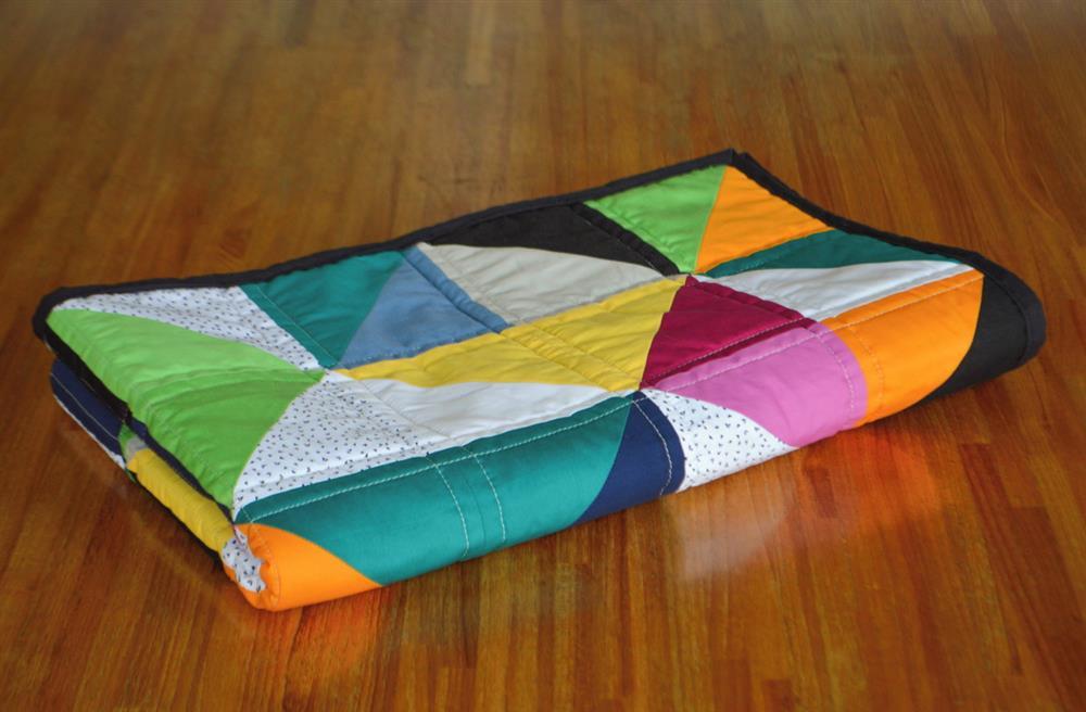 manta patchwork para cuna