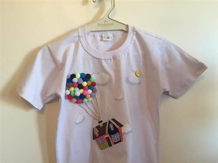 blusa infantil personalizada con pompón