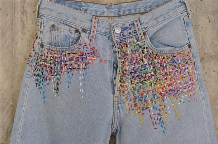 personalización de jeans