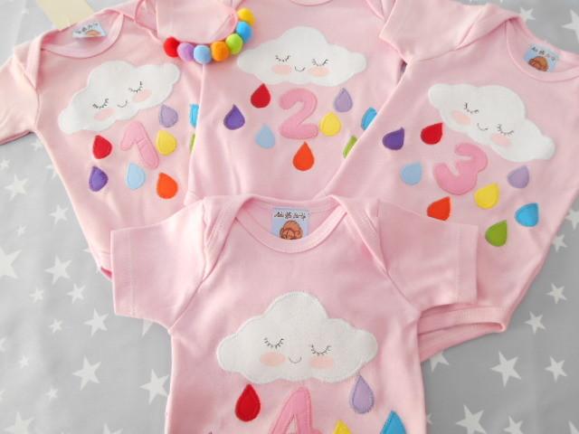 Personalización de ropa infantil para mesversário