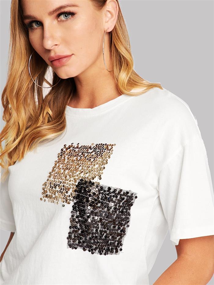 Personalización de camisetas con lentejuelas