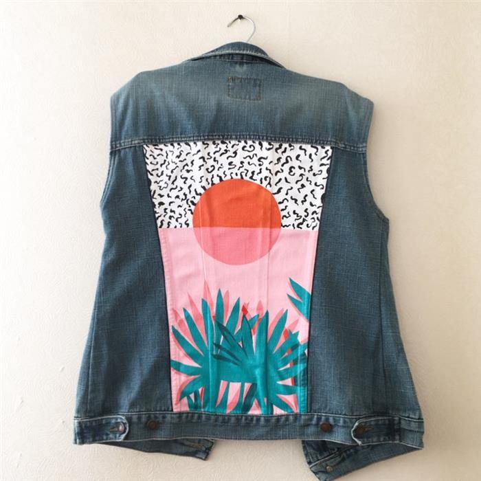chaqueta personalizada con tela