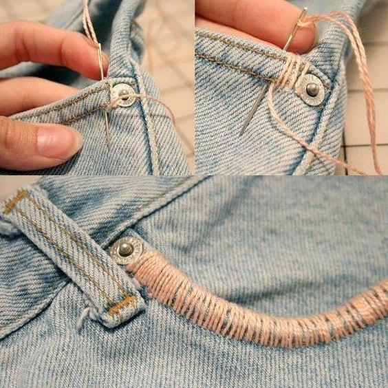 personalizar con hilo y aguja