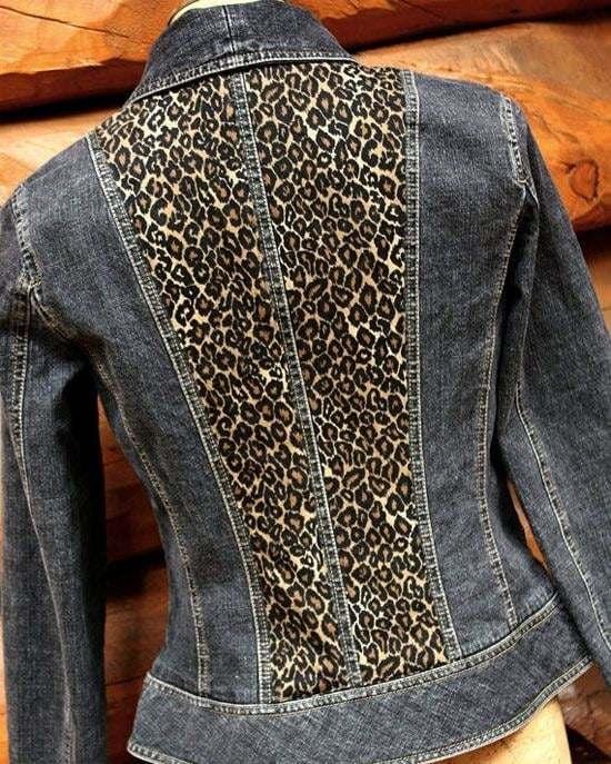 personalizado con tela de leopardo