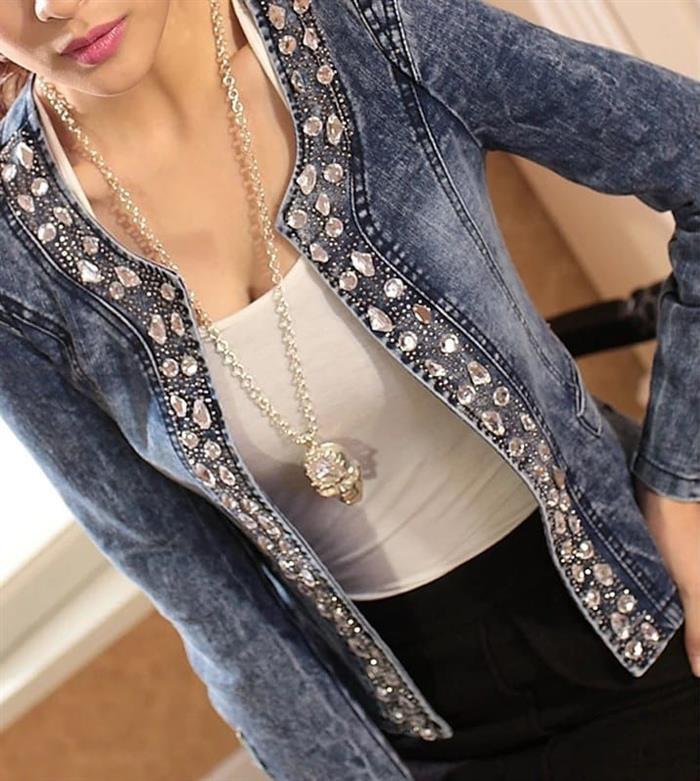chaqueta personalizada con piedras
