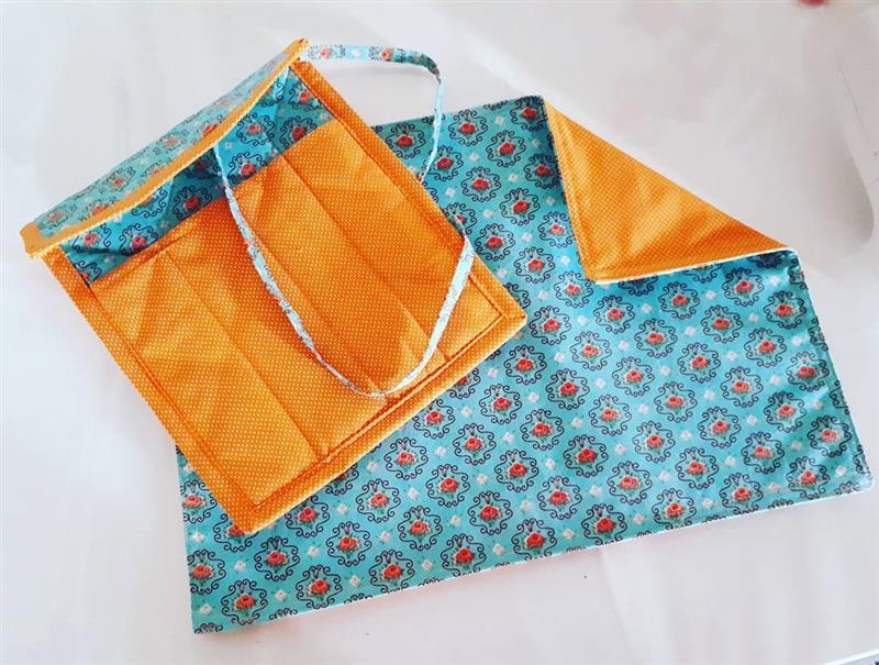 mantel individual con porta cubiertos