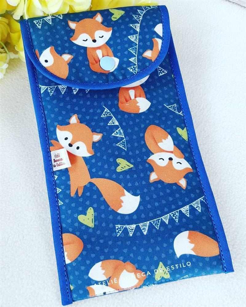 Porta cubiertos de tela para niños