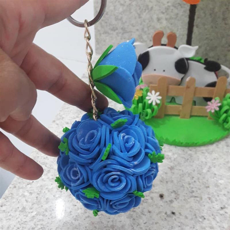 Llavero con flores