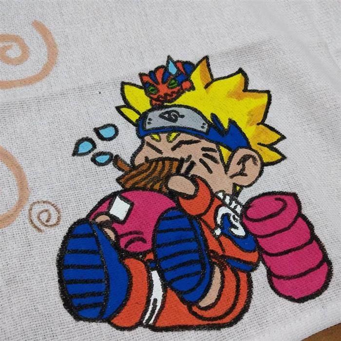 pintura sobre paños de cocina tejidos