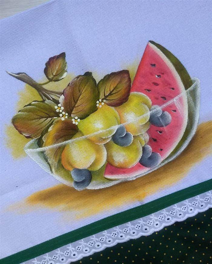 pintura para trapo de frutas