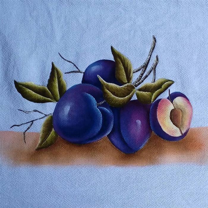 cuadros de tela de plato de frutas