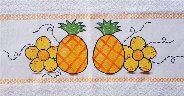 cuadros sobre trapos de frutas