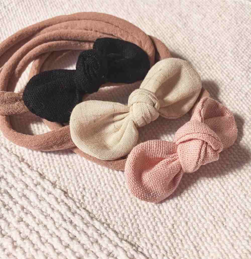 Lazo de seda para bebé con lazo