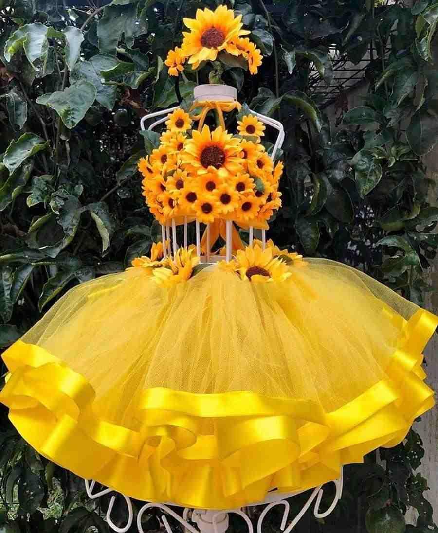 Idea de lujo de fantasía de girasol