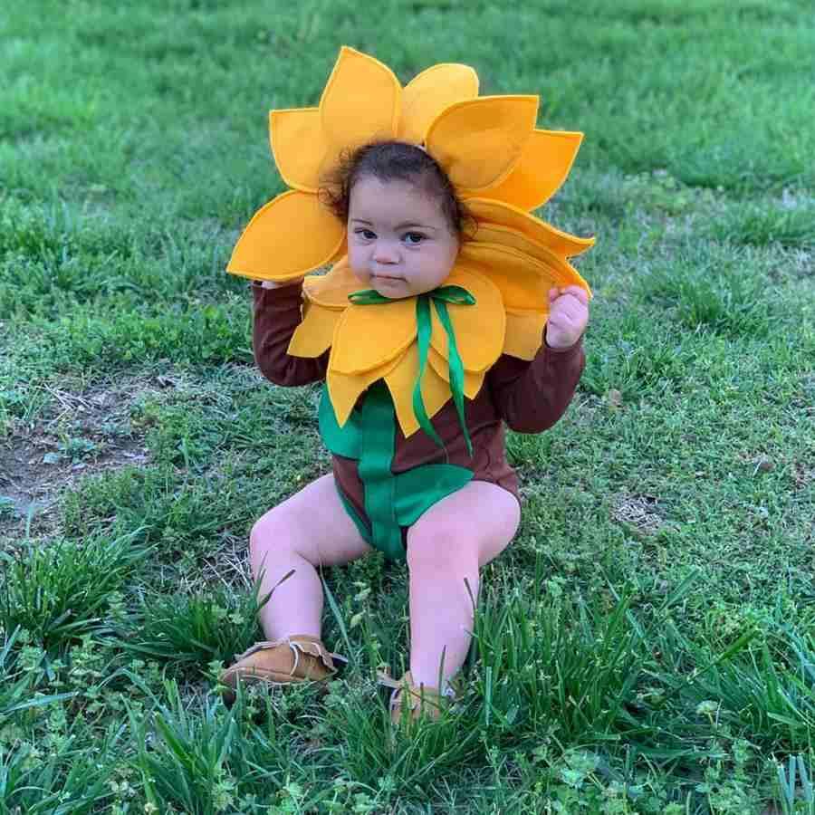 Disfraz de girasol para bebé