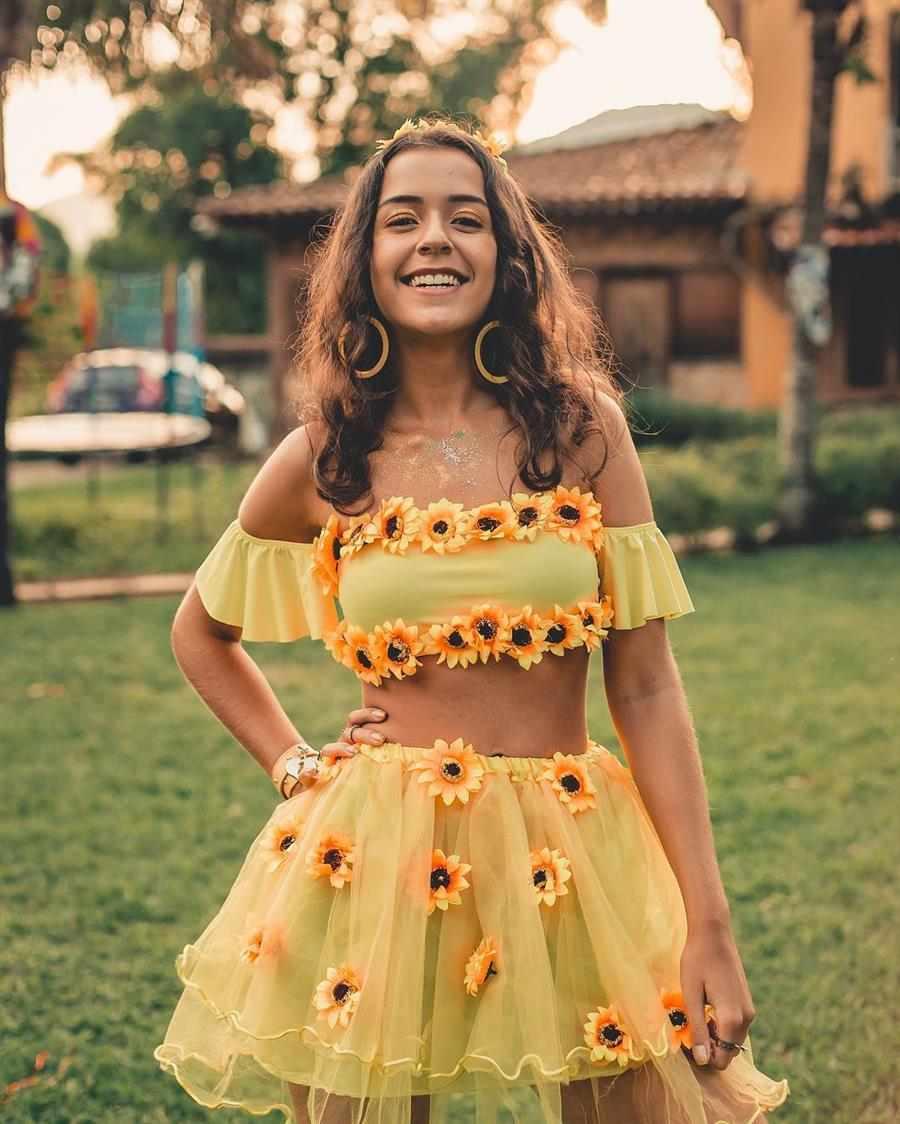 disfraz de girasol femenino