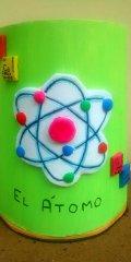 teja decorada lapicero atomo