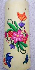 Teja decorativa artesanal lisa flores y mariposas