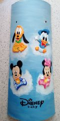 Teja decorada artesanal en relieve bebes Disney