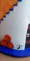 Teja decorada artesanal en relieve: Casa Campo Lateral