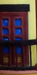 Teja decorada artesanal en relieve: Casa Doble Tejado (Detalle Balcón)