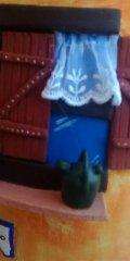 Teja decorada artesanal en relieve: Casa Campo Balcon