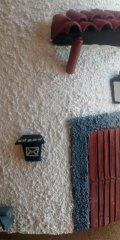 Teja decorada artesanal casa blanca relieve (Detalle Entrada)