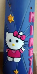 Teja decorada artesanal en relieve: Hello Kitty (Personalizable)