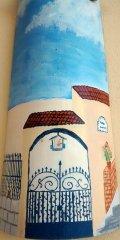 Teja decorativa artesanal lisa: Casa Sierra Elvira (Frontal)
